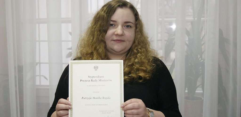 Patrycja Rogala stypendystką Prezesa Rady Ministrów