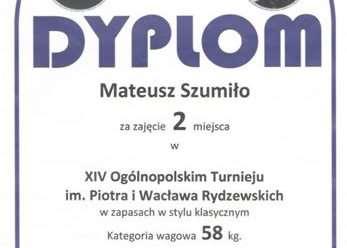 Srebrny  MATEUSZ SZUMIŁO na Memoriale Rydzewskich 16.09.2017r.