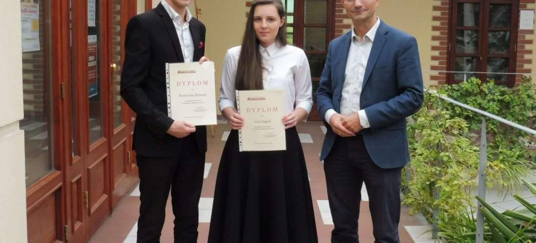 Julia Zagoła i Dominik Bitner docenieni